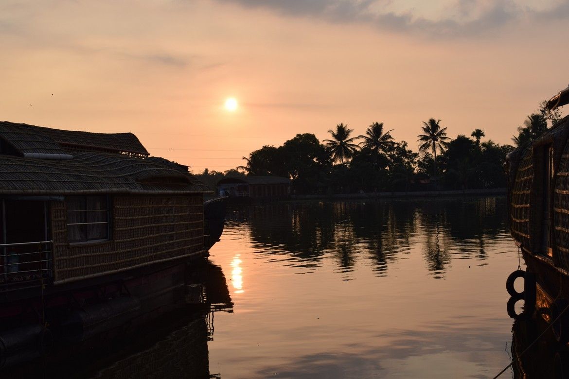 Watch the Sunset as your Cruise on Vembanad Lake