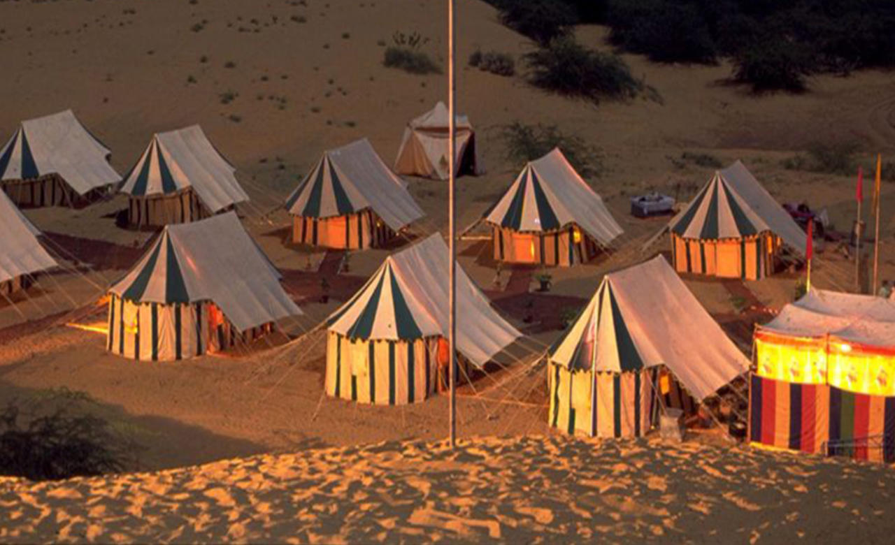Experience desert camping