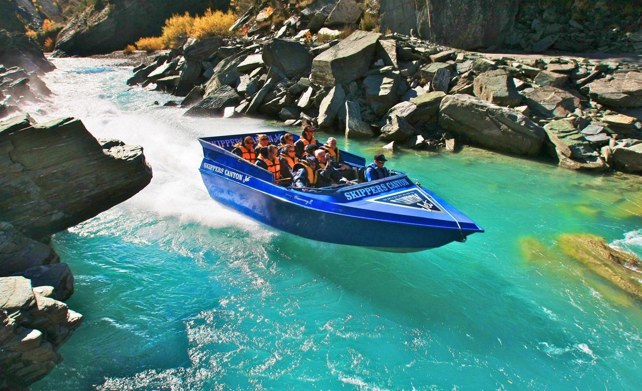 Go on a jet boat ride