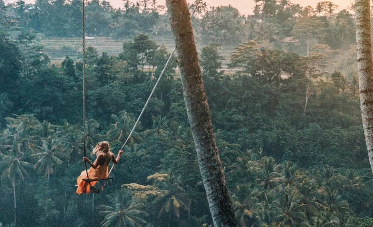 Swing over the Balinese Jungle