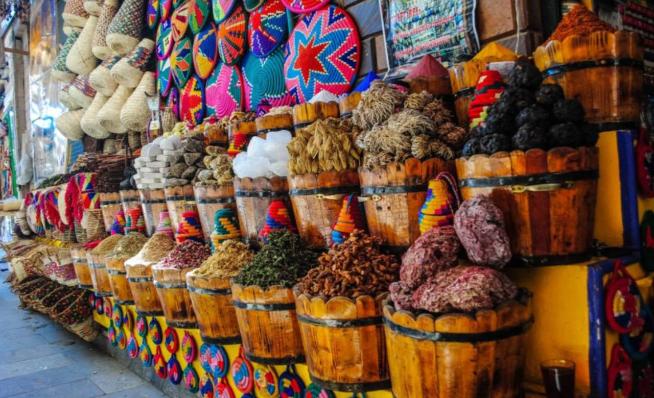 Visit a traditional Mexican market: