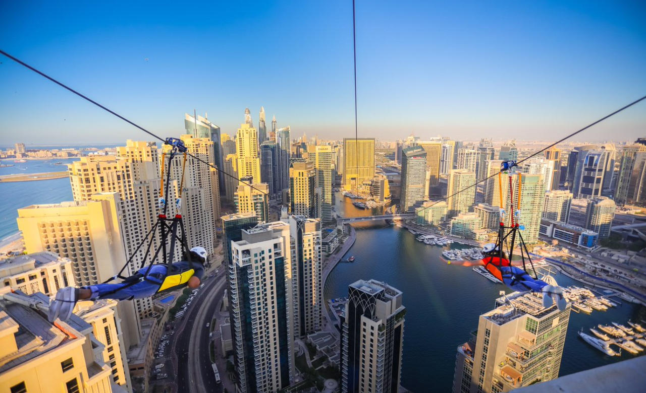 Zip-Line through The Dubai Marina
