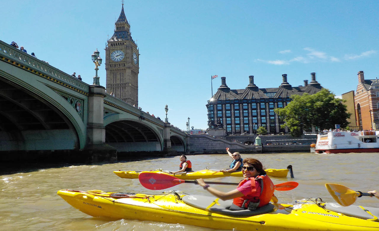 Kayaking on the Thames