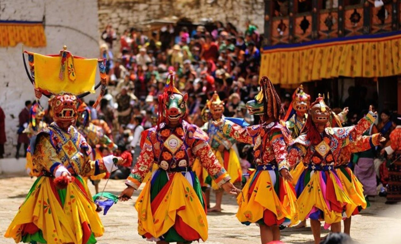 Mask Dance at Lachung monastery