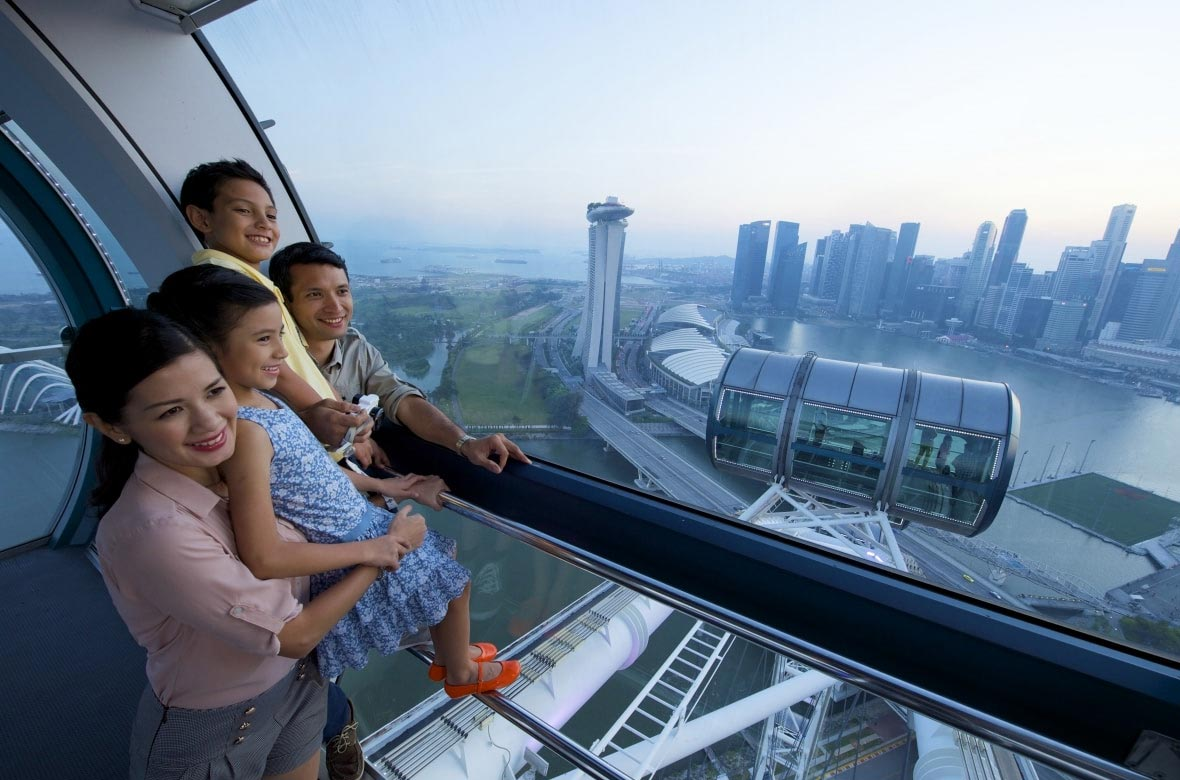 Take a ride on the Singapore Flyer