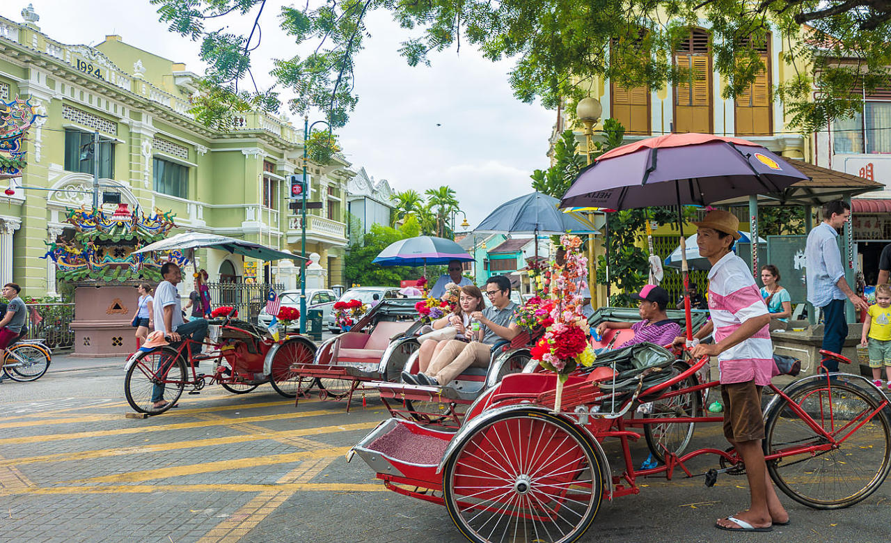Take a trishaw ride through Penang's heritage streets