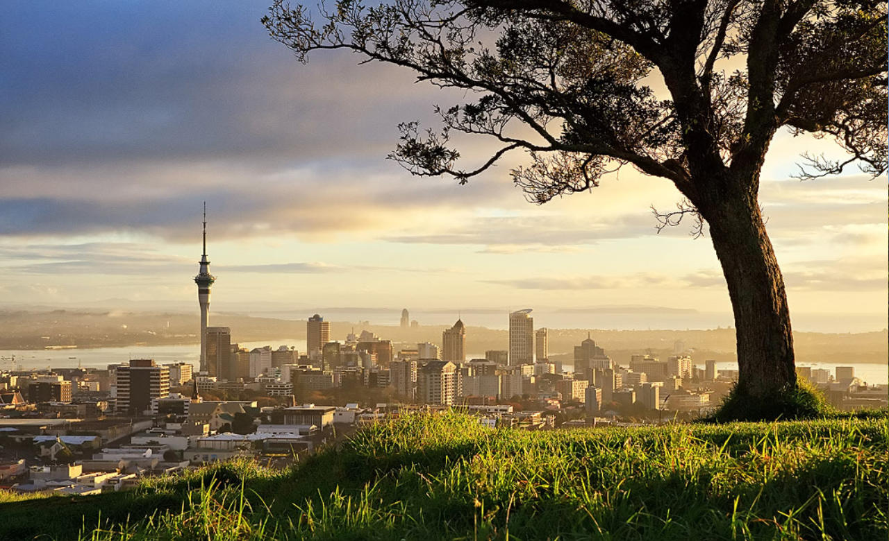 Watch the sunset from Mt Eden