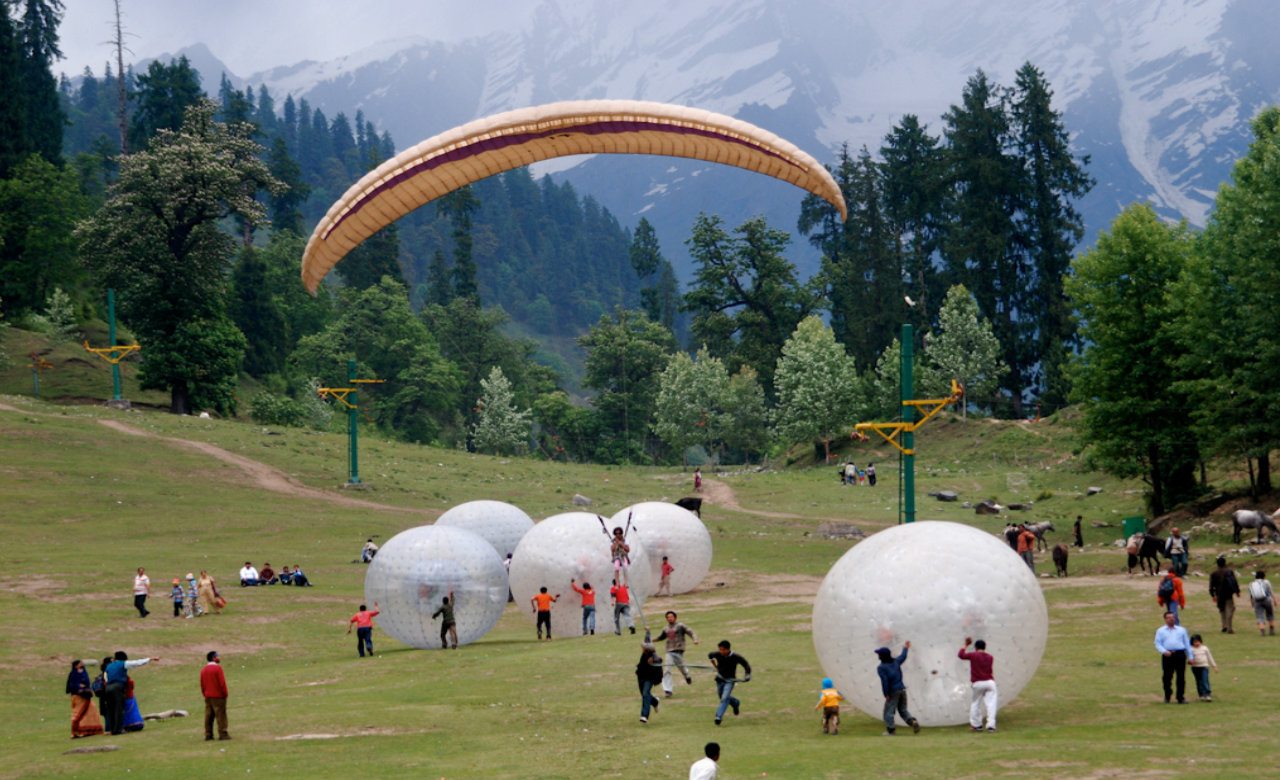 Enjoy Water Sport Like Zorbing in Khajjiar