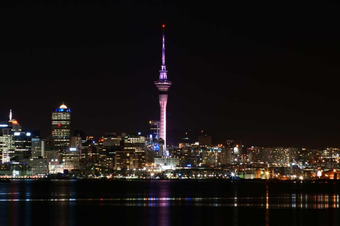 Auckland Skyline Night