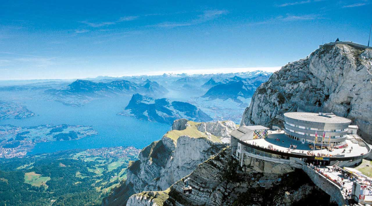 Mt Pilatus with swiss pass