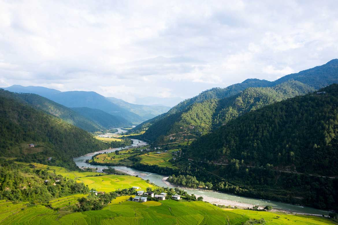Punakha valley countryside
