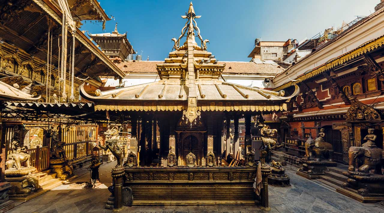 The golden temple in Patan